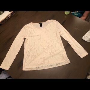Beige long sleeve shirt
